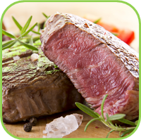 Culinary herbs ; Meat