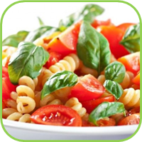 Basil with pasta