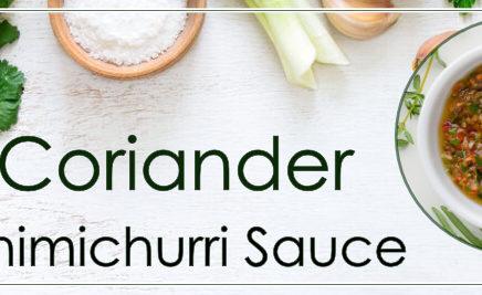 Coriander Chimichurri Sauce